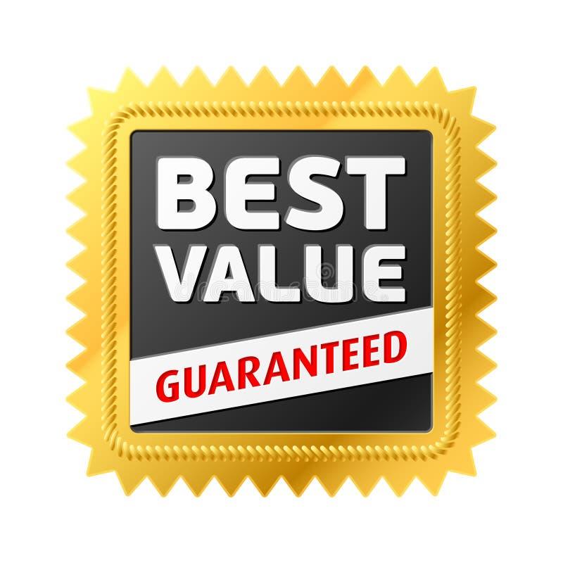 Download A Melhor Etiqueta Do Valor. Vetor. Ilustração do Vetor - Ilustração de mercado, garantia: 12806151