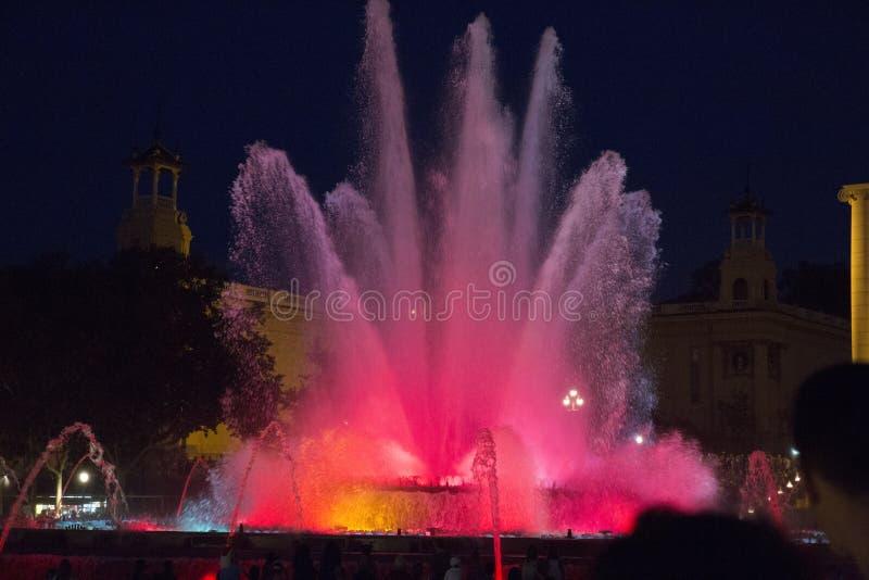 A melhor fonte a ficar no centro de Barcelona fotografia de stock