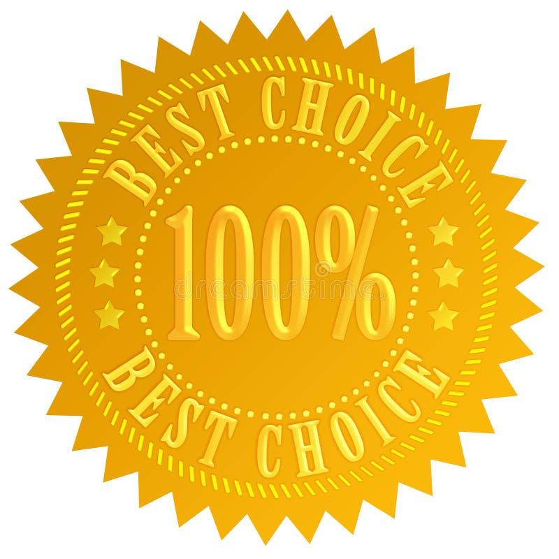 A melhor garantia bem escolhida ilustração do vetor