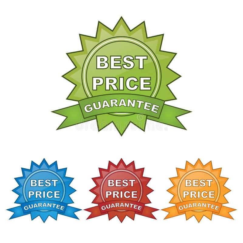 A melhor garantia do preço ilustração stock