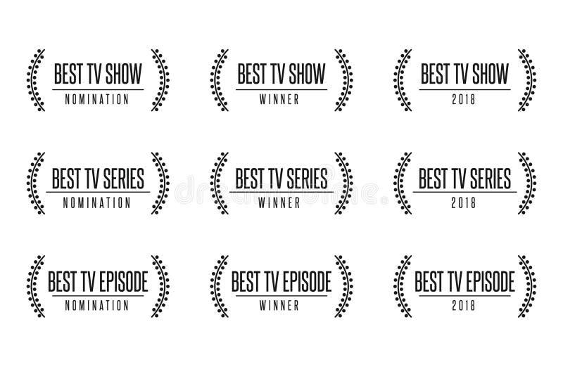 A melhor ilustração do vetor do nomintaion da concessão da série do programa televisivo ilustração stock