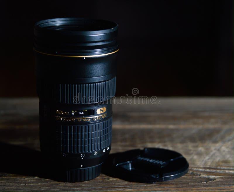 A melhor lente de Nikkor imagens de stock royalty free