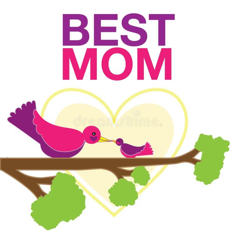 A melhor mamã ilustração do vetor
