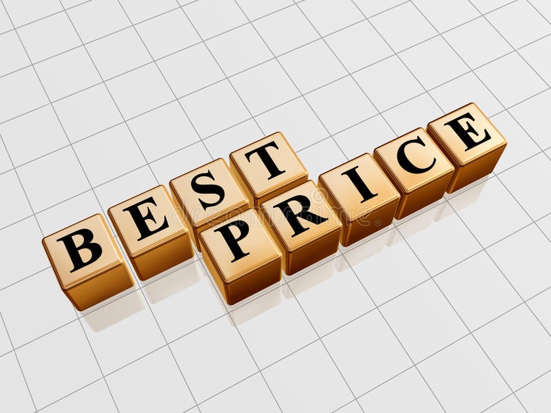 Melhor preço dourado ilustração stock