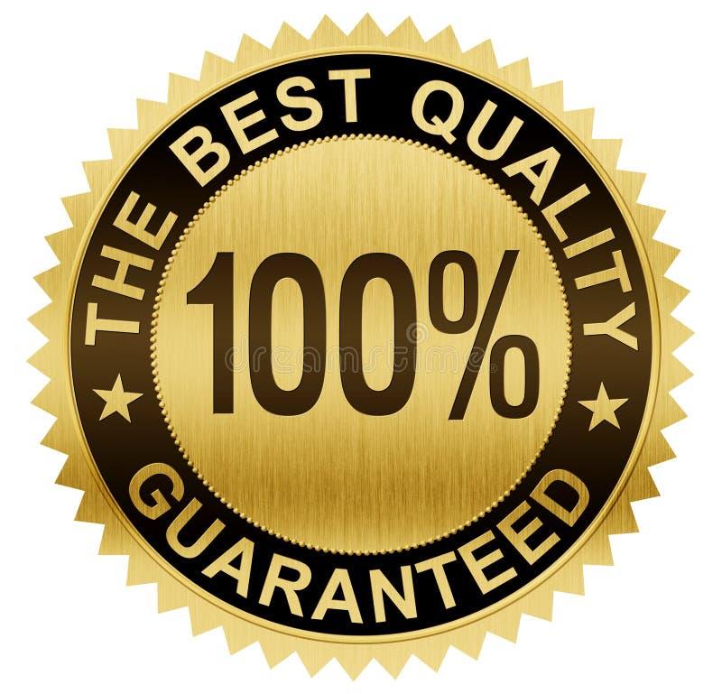A melhor qualidade garantiu a medalha do selo do ouro com trajeto de grampeamento ilustração royalty free