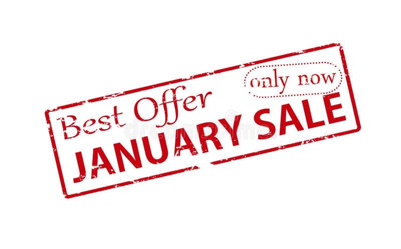 A melhor venda de janeiro da oferta imagens de stock royalty free