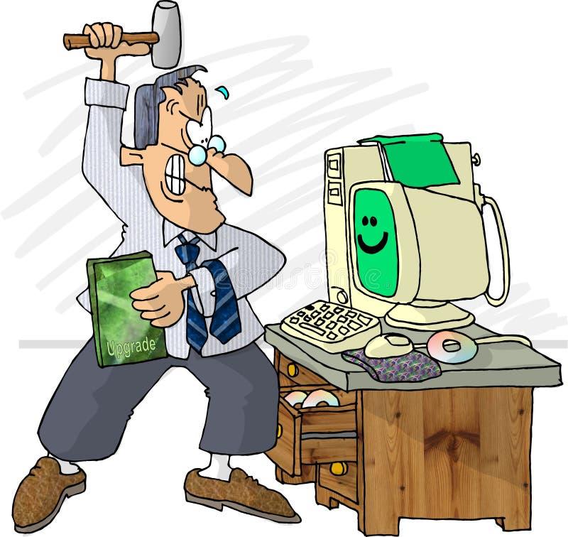 Melhoramento do computador ilustração stock