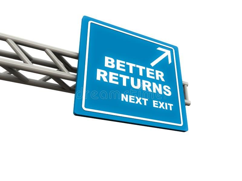 Melhore retornos ilustração stock