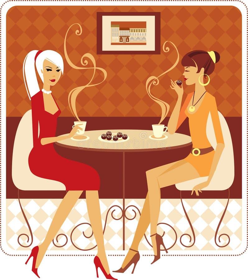 Melhores amigos ilustração royalty free