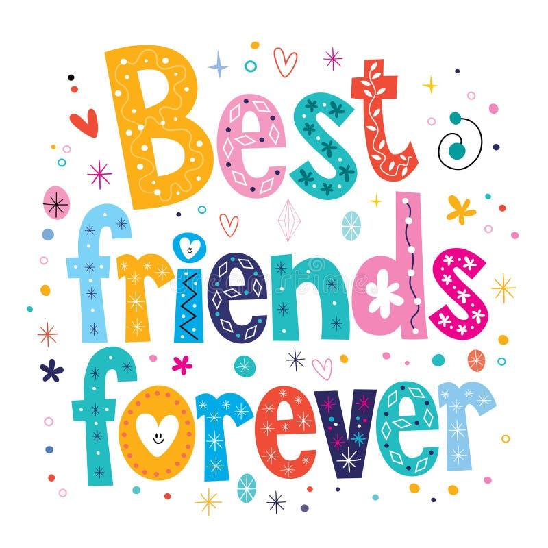 Melhores amigos para sempre ilustração do vetor