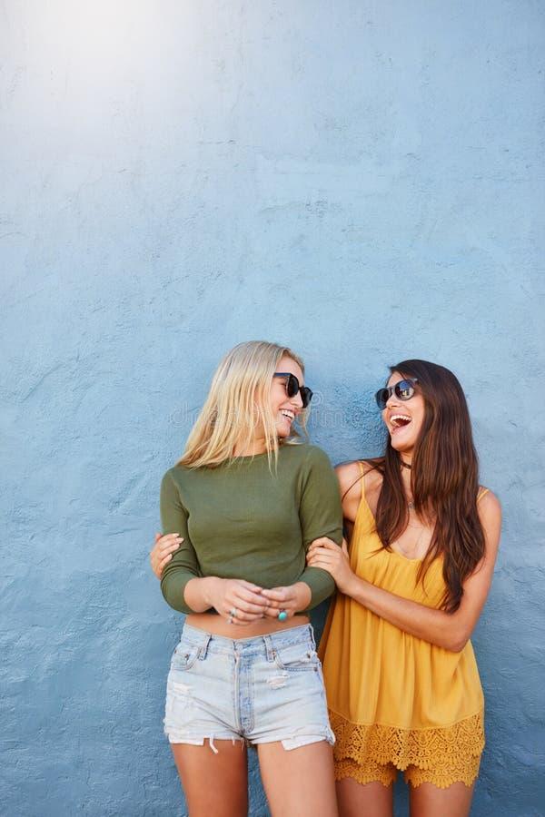 Melhores amigos que têm o grande tempo junto imagens de stock royalty free