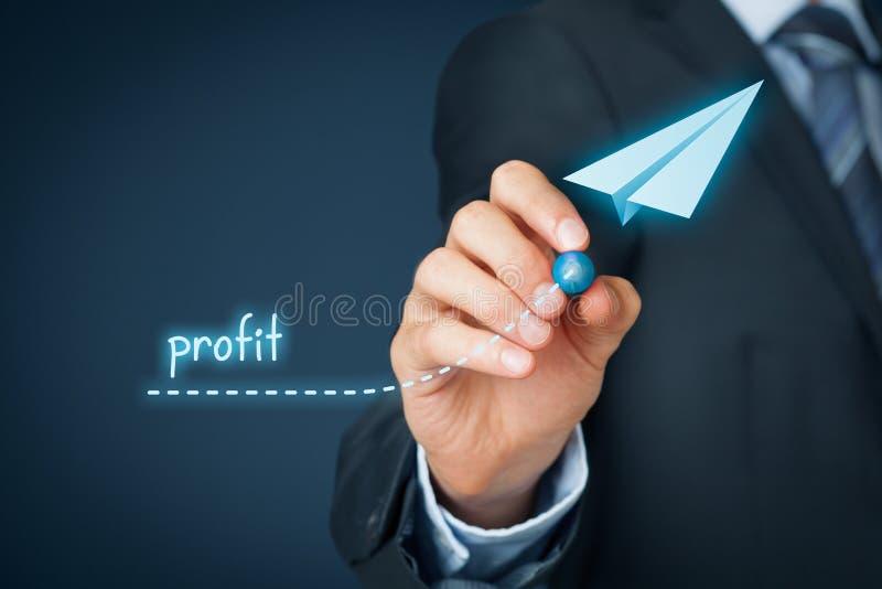 Melhoria do lucro fotografia de stock royalty free