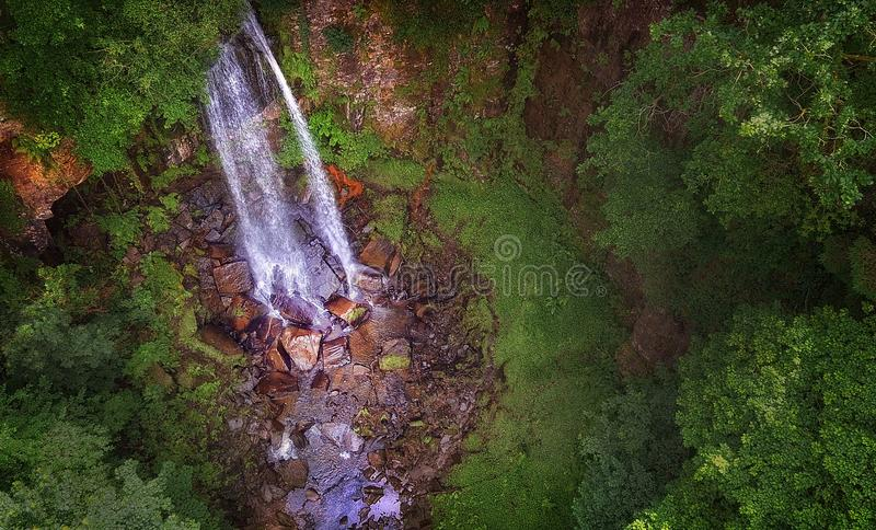 Melincourt waterfall Resolven. Beautiful Melincourt waterfalls in Resolven, near Neath, South Wales, UK royalty free stock photos