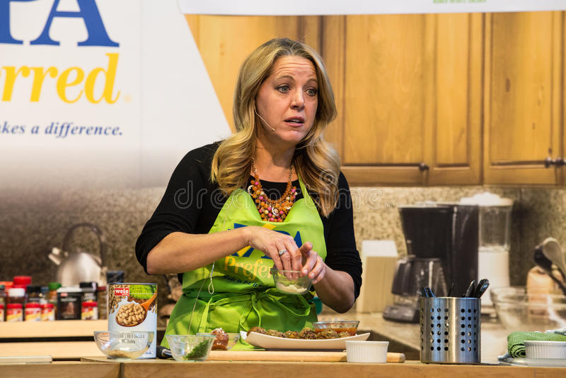 Melissa dArabian Robi Meatballsv przy PA gospodarstwa rolnego przedstawieniem fotografia stock
