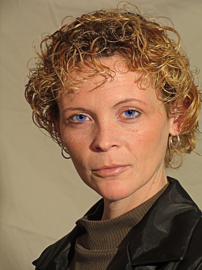Melissa För Blåa ögon Arkivfoto
