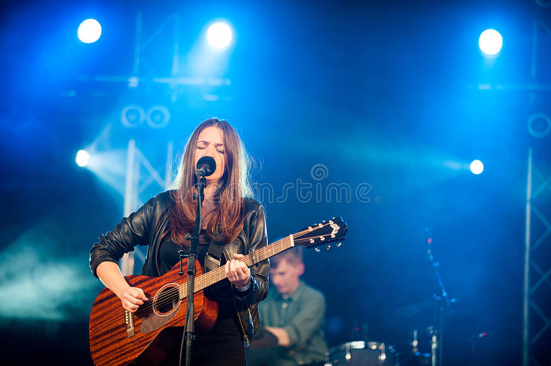 Melissa Horn at peace and love festival royalty free stock photography