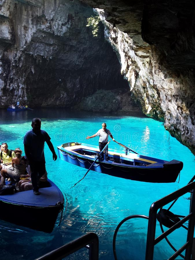 Melissani lake, Kefalonia, Greece stock image