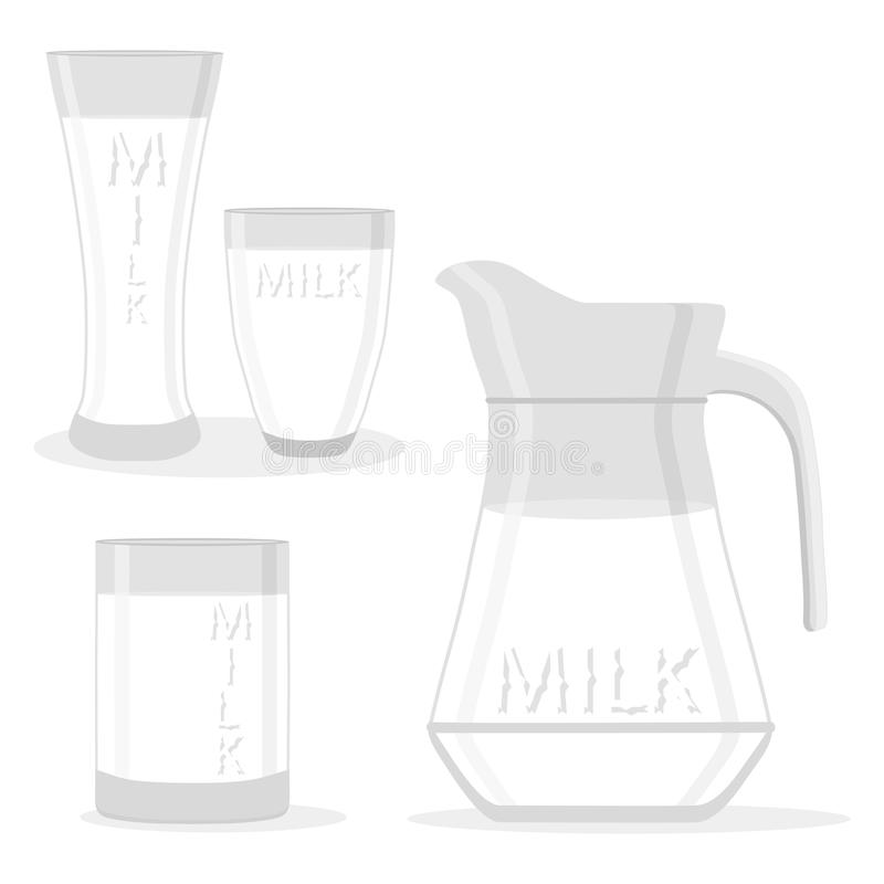 melk stock illustratie