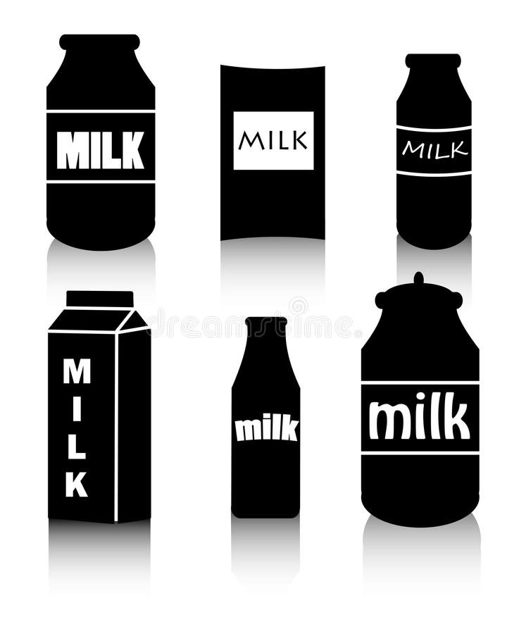 melk vector illustratie
