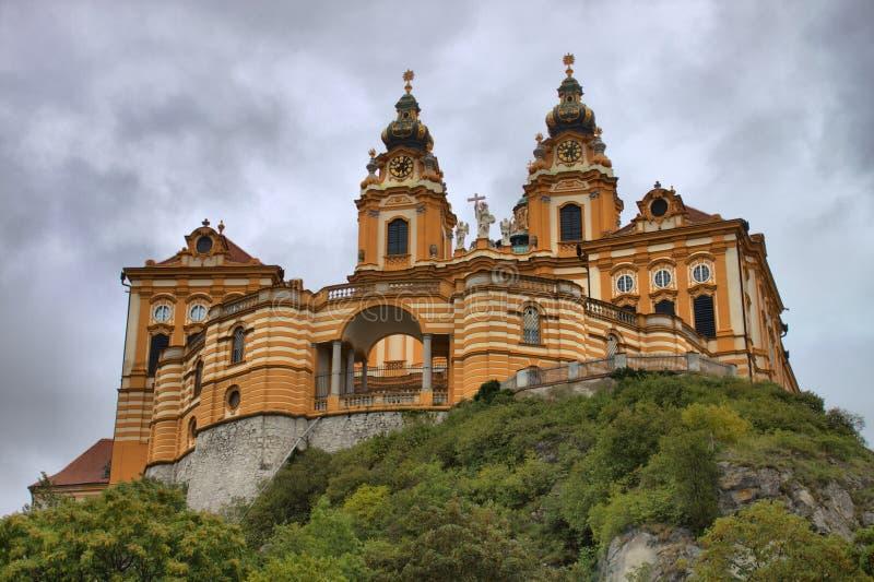 Melk abbey in Austria stock image