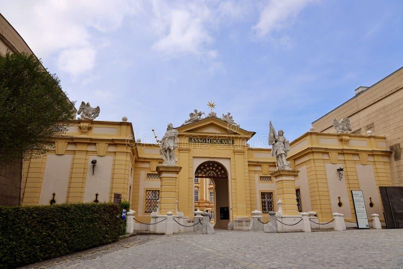 The gate of Melk Abbey,Melk ,Austria stock photo