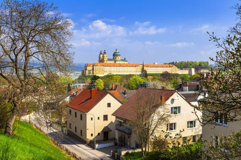 Melk abbey - unesco heritage site in Austria stock image