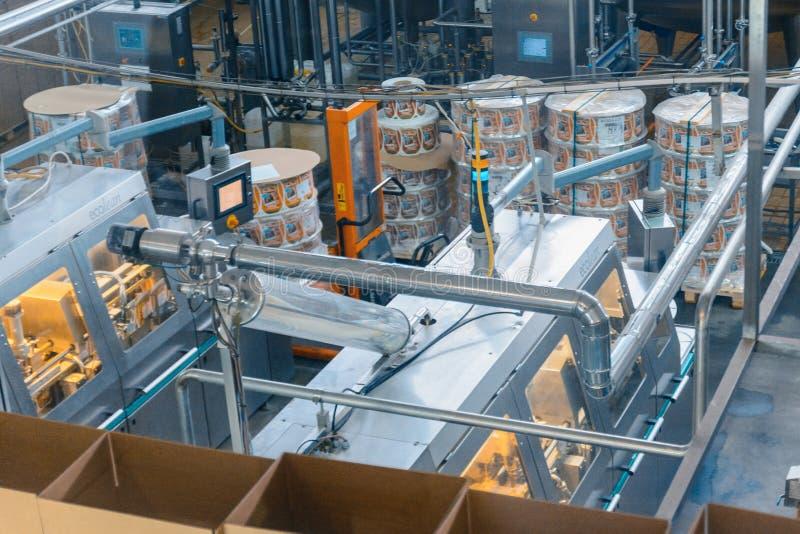 Melk en kaasproductie-installatie royalty-vrije stock foto
