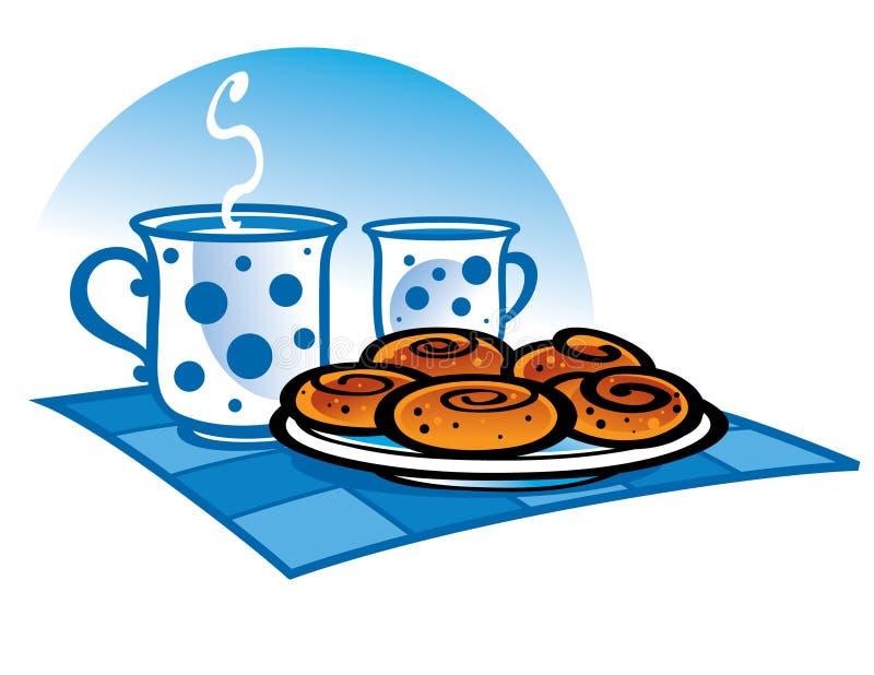 Melk en Koekjes vector illustratie