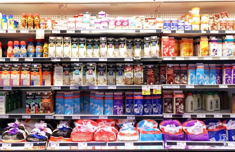 Melk en zuivelproducten stock foto's
