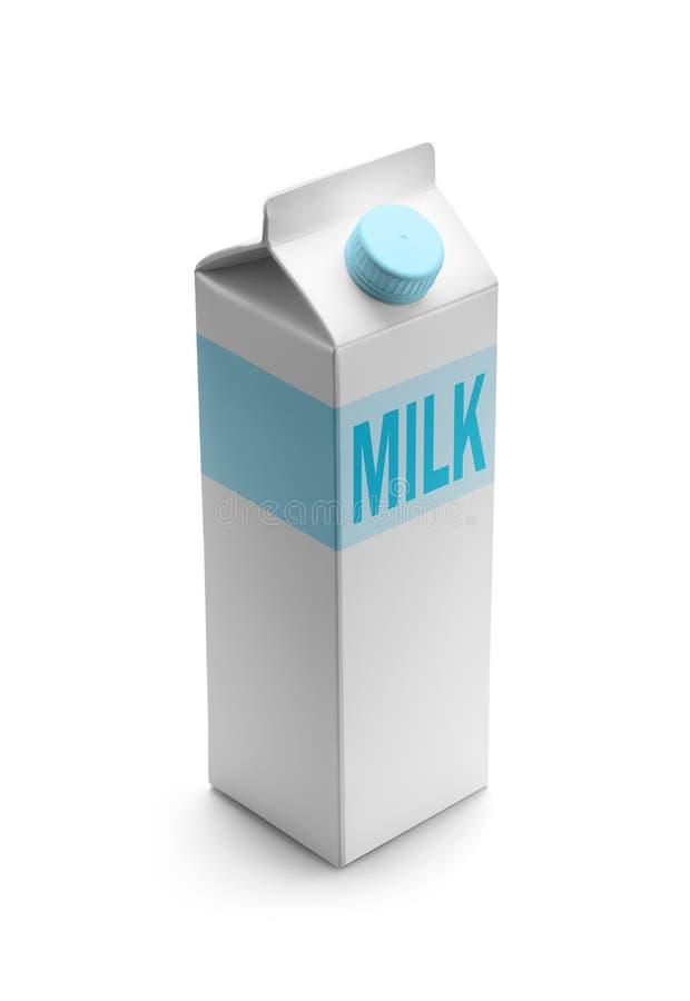 Melk geïsoleerde verpakking stock afbeeldingen