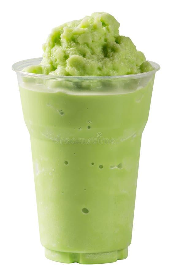 Melk Groene thee smoothie royalty-vrije stock afbeeldingen