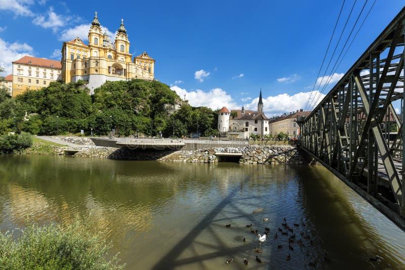 Melk kloster, abbotskloster för världsarv i Österrike royaltyfria bilder