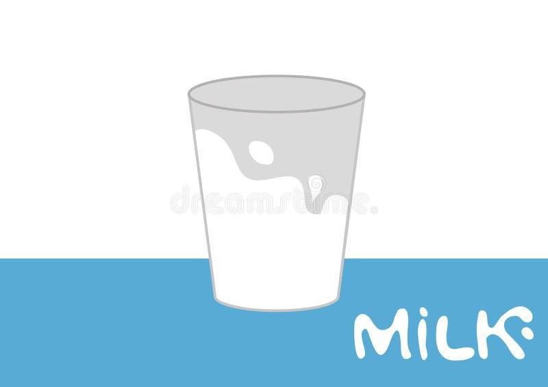 Melk op glas royalty-vrije stock foto