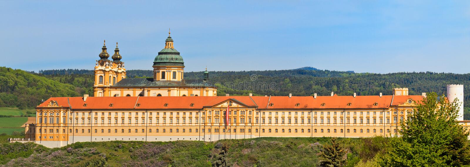 Download Melk Panorama - Famous Baroque Abbey Stock Image - Image: 25092855