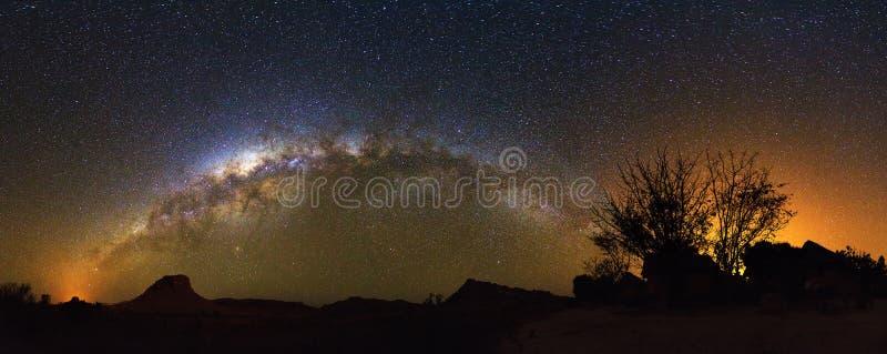 Melkachtig manierpanorama Madagascar stock afbeeldingen