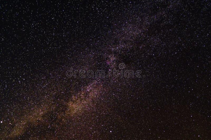 Melkachtige maniermelkweg, Lange blootstellingsfoto stock afbeeldingen