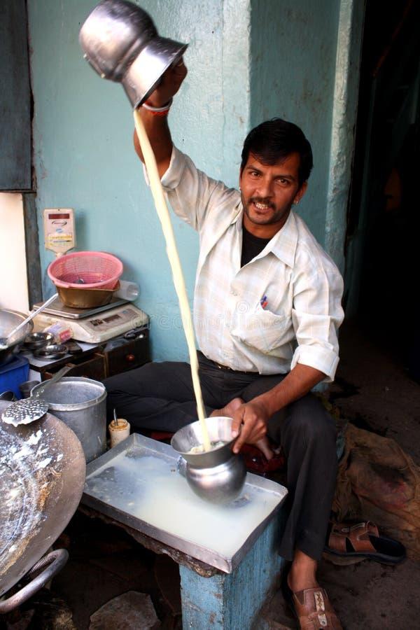 Melkboer van India stock foto