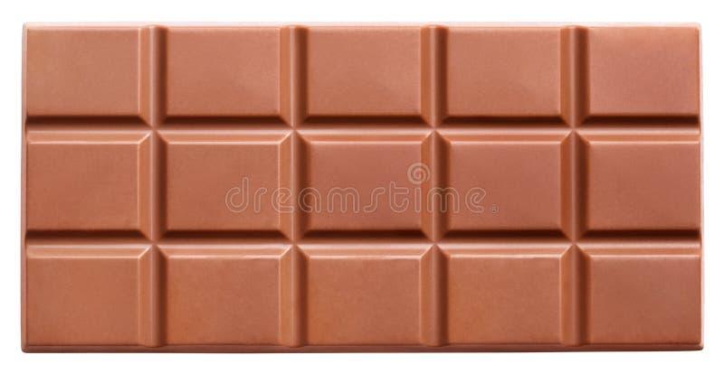 Melkchocolabar die op wit wordt geïsoleerd stock fotografie