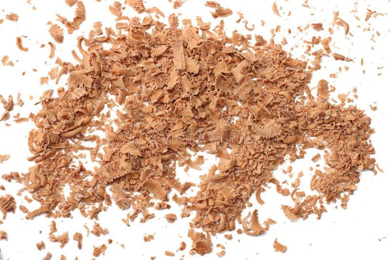 melkchocolaspaanders op witte hoogste mening worden geïsoleerd die als achtergrond royalty-vrije stock foto