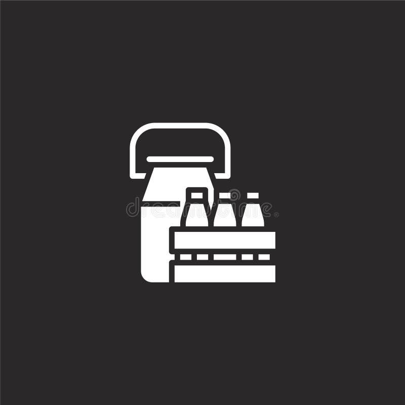 Melkpictogram Gevuld melkpictogram voor websiteontwerp en mobiel, app ontwikkeling melkpictogram van gevulde geïsoleerde landbouw stock illustratie
