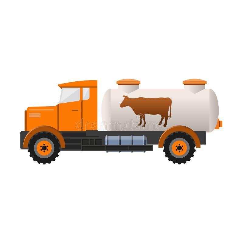 Melktankvrachtwagen royalty-vrije illustratie