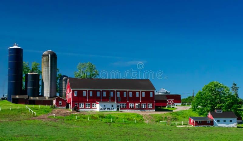Melkveehouderij in Westelijk Pennsylvania royalty-vrije stock fotografie