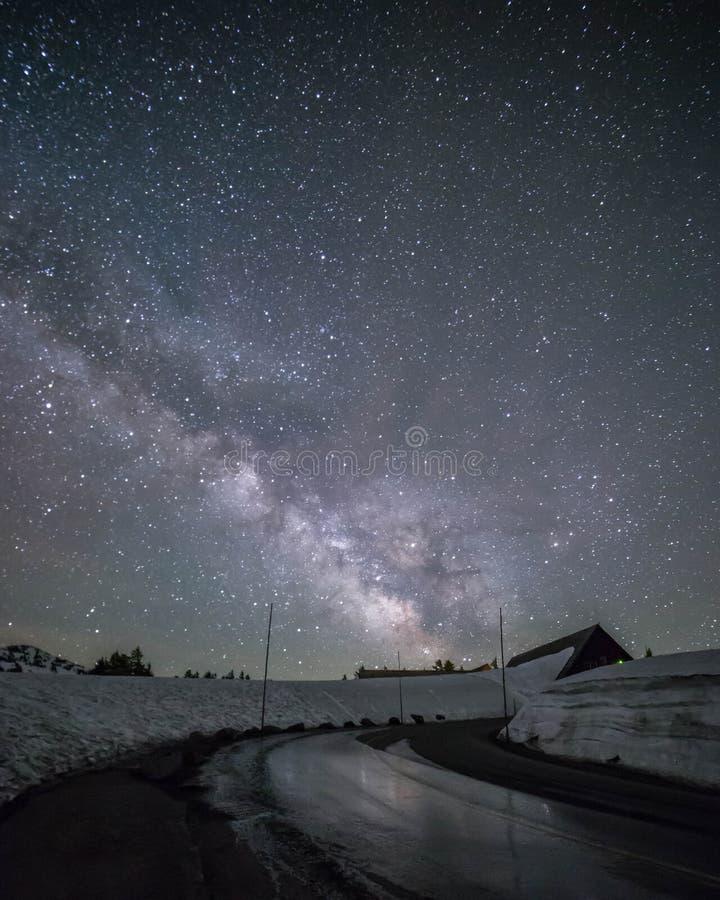 Melkweg bij Kratermeer royalty-vrije stock afbeeldingen