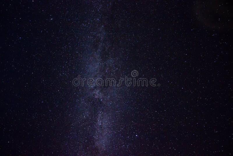 Melkweg in de Ijslandse hemel stock afbeeldingen