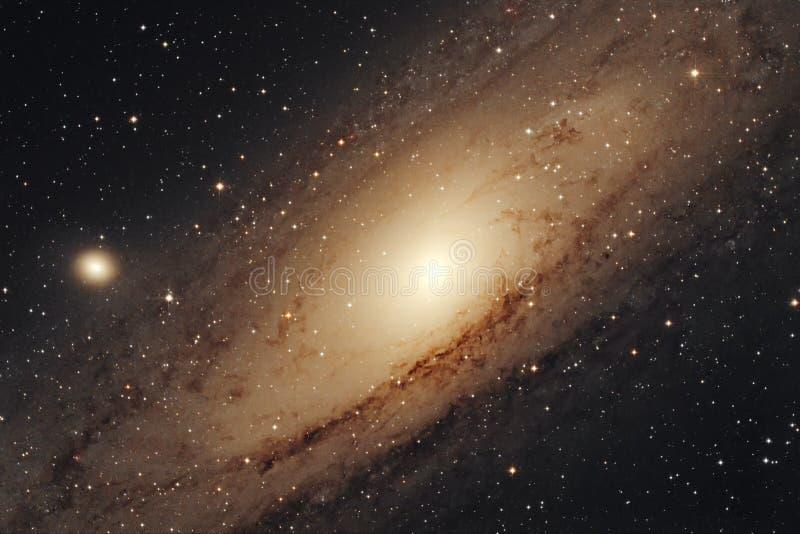 Melkweg in de nachthemel royalty-vrije stock afbeelding