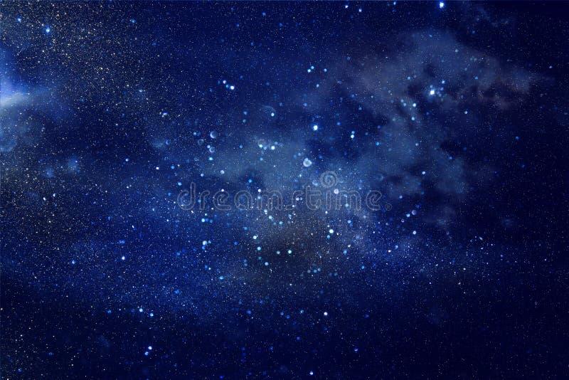 Melkweg en nevel Sterrige kosmische ruimtetextuur als achtergrond royalty-vrije stock afbeelding