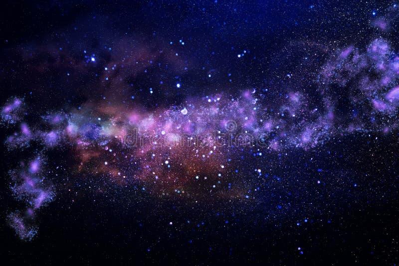 Melkweg en nevel Sterrige kosmische ruimtetextuur als achtergrond royalty-vrije stock foto
