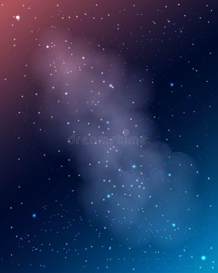 Melkweg met ster abstracte achtergrond stock illustratie