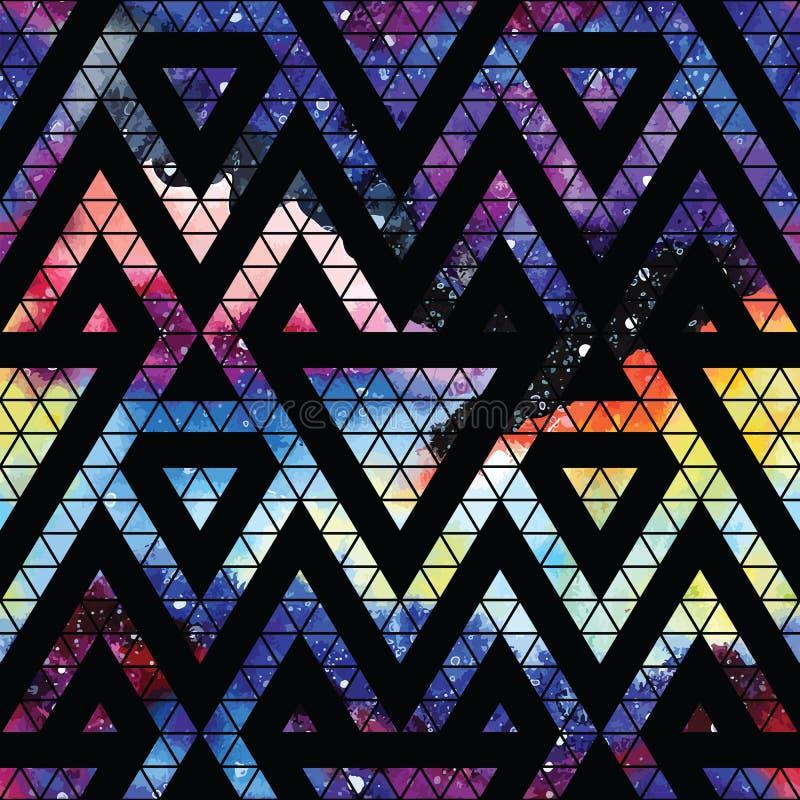 Melkweg naadloos patroon vector illustratie