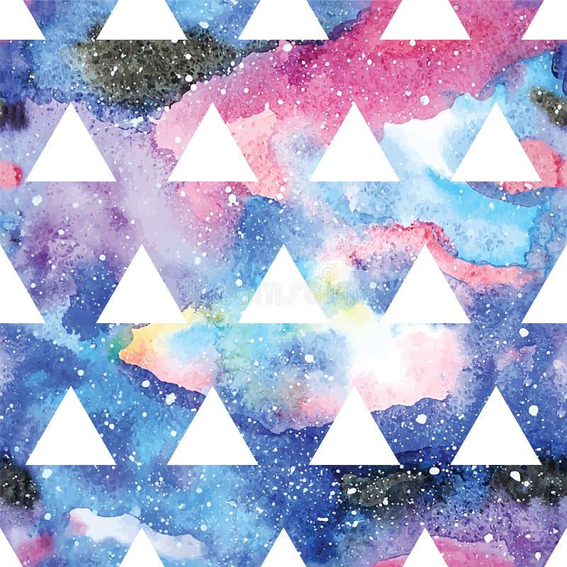 Melkweg naadloos patroon stock illustratie